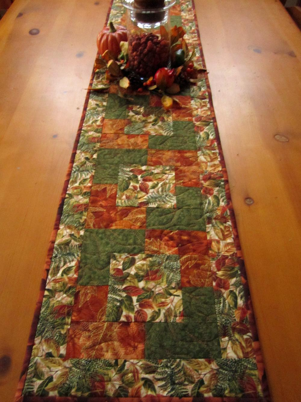 Autumn Colors Fall Table Runner On Luulla